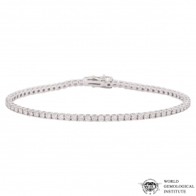 White Gold Diamond Line Bracelet 2.53ct G-H/SI